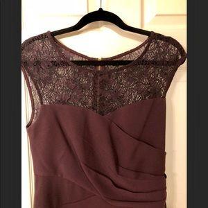 Calvin Klein Lace Neckline Dress